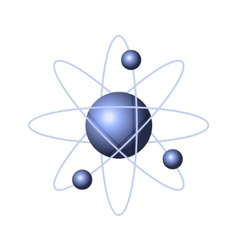 Model of Abstract Atom Structure vector image