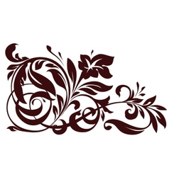 Floral element for design vector image