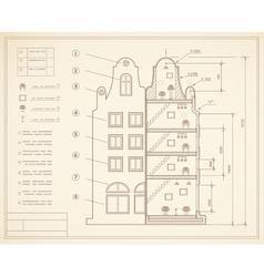 Plan facility vector image