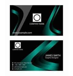 Templates for business card vector