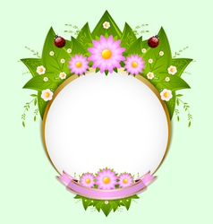 Floral spring decoration vector