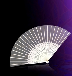 White-golden fan vector