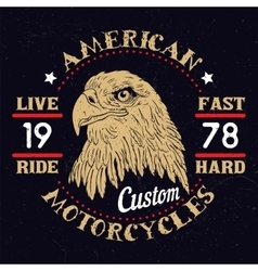 American eagle motorcycle emblem vector