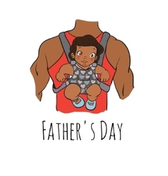 Fathers day card cartoon vector