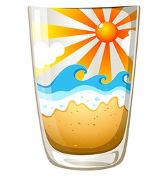 A glass with a touch of summer vector