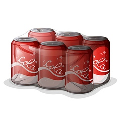 A pack of cola cans vector