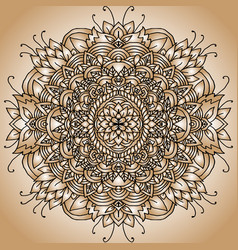Abstract mandala ornament asian pattern golden vector