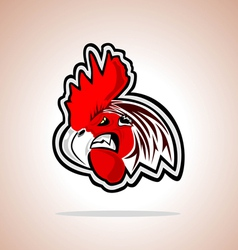 Angry cock vector