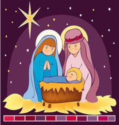 Baby-Jesus-in-a-manger-3 vector image vector image