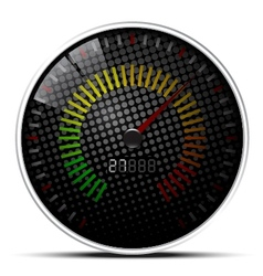 Black Speed Meter vector image vector image