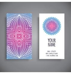 Business card Vintage decorative elements vector image