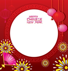 Chinese new year frame vector
