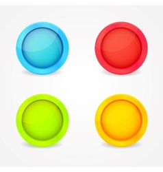 color glossy buttons vector image vector image