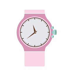 Color graphic of modern female wristwatch vector