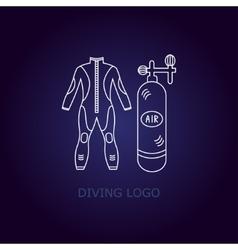 Diving logo vector