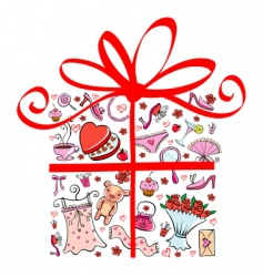 gift tor girl vector image vector image