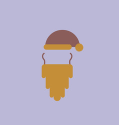 Hat and beard of accessories vector