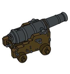 Historic naval cannon vector