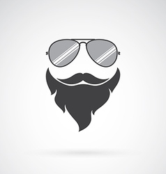 Image of an sunglasses and mustache and beard vector