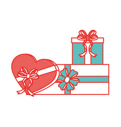 Isolated gifts design vector