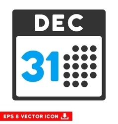 Last year day eps icon vector