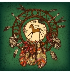 Native american indian dream catcher vector image