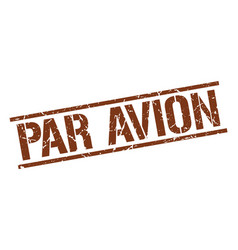 Par avion stamp vector