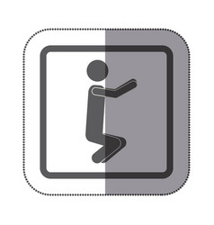 Person doing squats icon vector