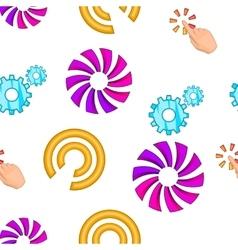 Pointer cursor pattern cartoon style vector