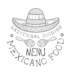 restaurant traditional mexican cuisine food menu vector image vector image