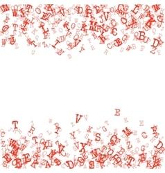 Scatterred Alphabet Background vector image
