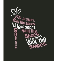 shoe from quote vector image vector image