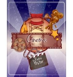 Sketch cinema poster vector