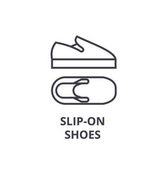 slip on shoes line icon outline sign linear vector image