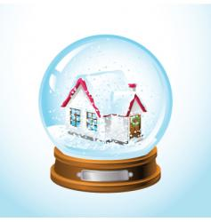 snow globe home vector image vector image