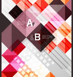 square elements on gray abstract background vector image vector image