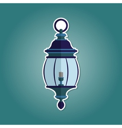 Color icon with lantern vector
