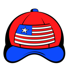 Baseball in the usa flag colors icon cartoon vector