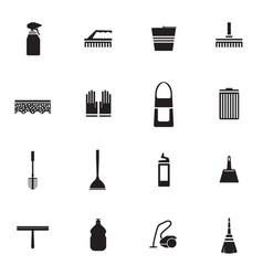 flat housework icons set vector image