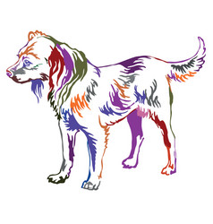 Colorful decorative standing portrait of dog vector