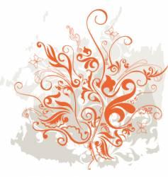 grunge floral design element vector image
