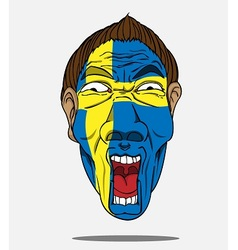 football fan from sweden vector image