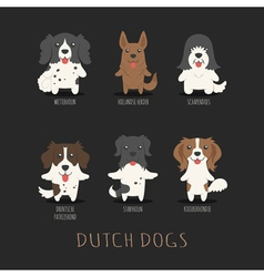 Set of dutch dogs  eps10 format vector