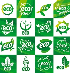 Large set of logos eco vector