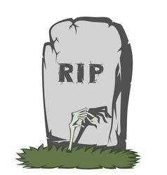 Spooky tombstone vector