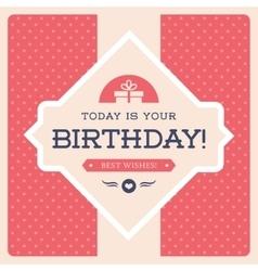 Retro birthday card vector