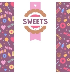 Logo template for sweets shop pattern with vector