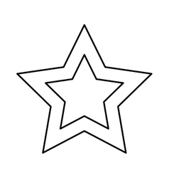 Star shape design isolated figure of five points vector
