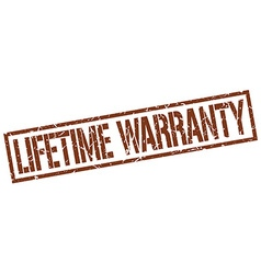 Lifetime warranty stamp vector