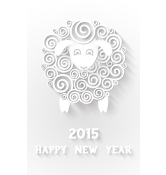 Abstract New Years sheep vector image vector image